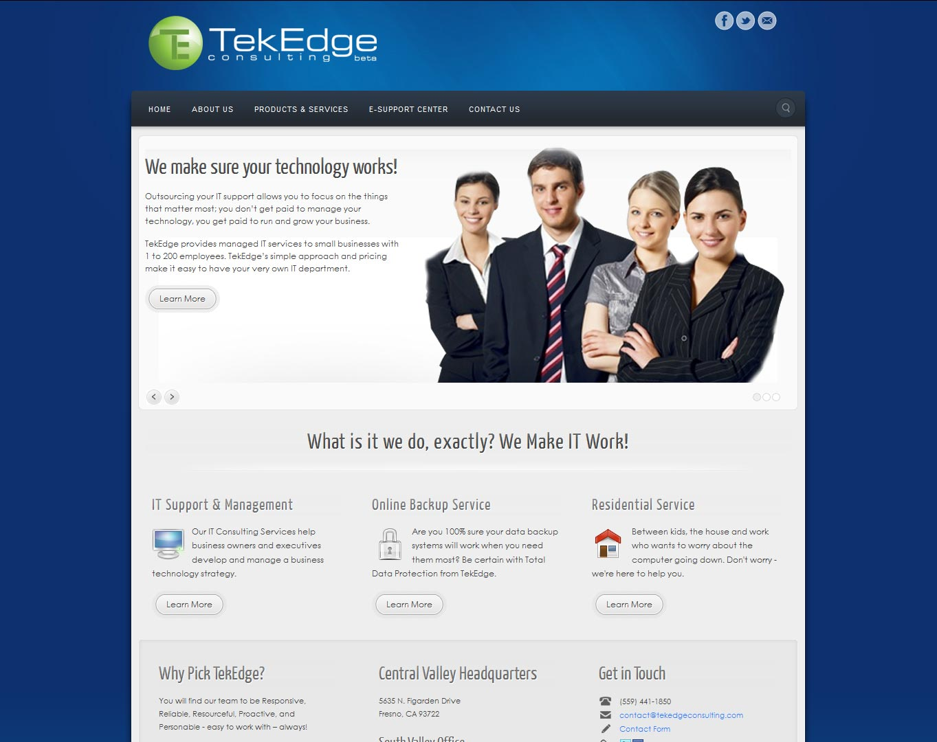 Web design tekedge consulting for Consulting website